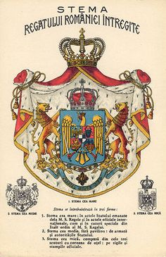 Stema Regala - Category:Coats of arms of the Romanian Kingdom - Wikimedia Commons Romania Map, Romania Travel, Bucharest Romania, Michael I Of Romania, History Of Romania, Romanian Royal Family, Romanian Flag, Romania People, Science And Nature