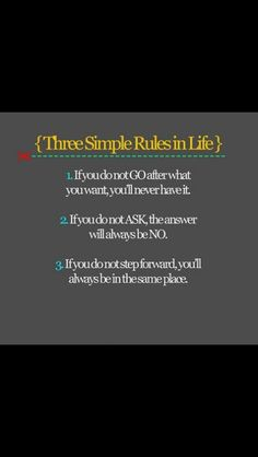 3 simple rules!