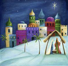 Ileana Oakley - Religious Bethlehem Mary Joseph Stable
