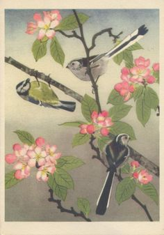 Blue and Longtailed Tits by Maurice Wilson Blue, Painting, Art, Art Background, Painting Art, Kunst, Paintings, Performing Arts, Painted Canvas