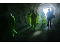 A group walks into the San Jacinto Tunnel for a tour on Thursday, Feb. 26, 2015, at the northeast entrance in Cabazon. The tunnel is part of the Colorado River Aqueduct.