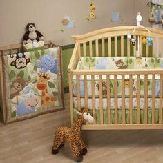 Jungle/Safari theme for baby's room.. I'm the elephant, lovebug's the monkey, hubs the giraffe, babygirl the fox (or zebra, or cat lol)