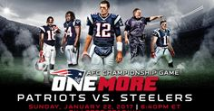 The New England Patriots will host the Pittsburgh Steelers in the AFC Championship game at Gillette Stadium on Sunday, January 22.