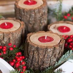 These candle holders wil add simple beauty to your home for any season. Group them with greenery and berries for perfect Christmas decor.