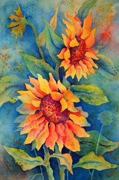 Martha Kisling Art With Heart Studio: Sunflower Workshop Painting