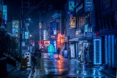 io's Creative director Marcus Wendt explored the streets of Hong Kong, Shenzhen and Seoul to capture these impressive Blade Runner / cyberpunk-inspired images. Photography 2017, Urban Photography, Night Photography, Street Photography, Landscape Photography, Colourful Photography, Cyberpunk City, Ville Cyberpunk, Blade Runner