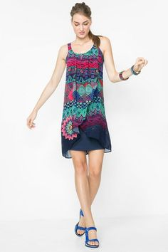 Desigual Gauze effect layered dress. Discover the spring-summer 2016 collection! Nordstrom, Classy And Fabulous, Spring Summer 2016, Hippie Chic, Shirt Blouses, Beautiful Dresses, Summer Dresses, My Style, How To Wear
