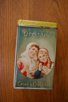 Droste's tin Old Boxes, Vintage Tins, Give It To Me, Lunch Box, Old Things, Silver, Beautiful, Products, Tin Cans