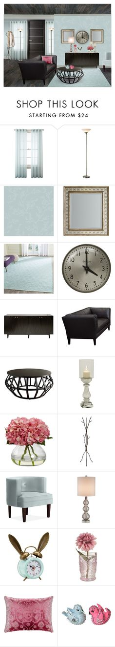 """The Clock"" by kwaldrip ❤ liked on Polyvore featuring interior, interiors, interior design, home, home decor, interior decorating, WALL, Royal Velvet, Hooker Furniture and Worlds Away"