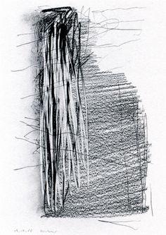 - Gerhard Richter- graphite on paper - x 21 cm Gerhard Richter, Black And White Drawing, Black And White Abstract, White Art, Abstract Drawings, Cool Drawings, Abstract Art, But Is It Art, Drawing Artist