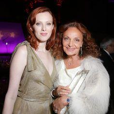 Karen Elson in Diane von Furstenberg and Diane von Furstenberg