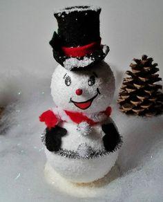 Christmas Trinket boxes snowmen  red  Christmas decor