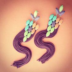 PASTEL fringe earrings by LOLAjewelryd on Etsy