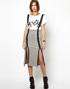 Zip, suspender skirt!