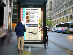 DIGITAL OUTDOOR: RESTAURANT FINDER  Get quick recommends on nearby restaurants depending on your taste.
