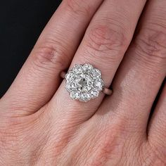 Image result for cluster engagement rings on hand
