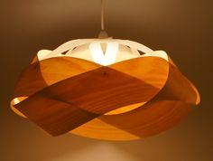 Wood veneer light shade - Large Wrap, 600mm diameter