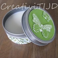 Stampin' Up!, Koru CreativiTIJD, kaars in blik, decoratie, Butterfly Gala, Stitched Circle framelit Stampin Up, Plates, Tableware, Plate, Dinnerware, Griddles, Dishes, Place Settings, Serveware