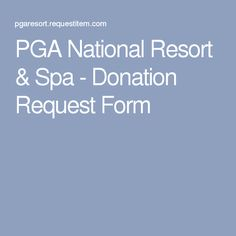Submit a donation request to PGA National Resort & Spa using ApproveForGood. Nonprofit Fundraising, Fundraising Events, Fundraising Ideas, Silent Auction Donations, Breast Cancer Party, Volunteer Gifts, Volunteer Appreciation, Sponsorship Letter, Fundraiser Baskets