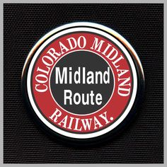 Colorado Midland Railroad Logo Railroad Magnet