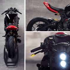 """Want to turn your Honda into a street fighter? Check out this cool """"Turnkey"""" Street fighter kit by Huge Moto. Street Fighter Motorcycle, Moto Bike, Cafe Racer Motorcycle, Motorcycle Style, Moto Ducati, Retro Motorcycle, Triumph Motorcycles, Custom Motorcycles, Custom Bikes"""