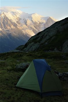 Try camping with these views! Tour du mont blanc, European alps, French alps, mont blanc, trekking mont blanc, hiking mont blanc, French trekkint, French hikes, hiking gear, trekking gear, trekking tent, mountains, landscape photography, nature, wilderness