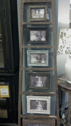 Cute latter with picture frames in it. :)