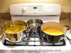 Delightful Repast: Satsuma and Meyer Lemon Marmalade Satsuma Marmalade Recipe, Lemon Marmalade, Kitchen Aid Mixer, Jars, Sugar, Water, Recipes, Food, Gripe Water