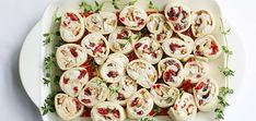 Chicken & Cranberry Pinwheel Sandwich Recipe