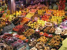 La Boqueria Market  http://www.boqueria.info/index.php?lang=en #Barcelona #Spain