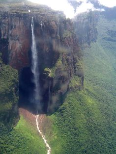 Angel Falls is the world's highest uninterrupted waterfall, with a height of 979 meters and a plunge of 807 meters - Venezuela.
