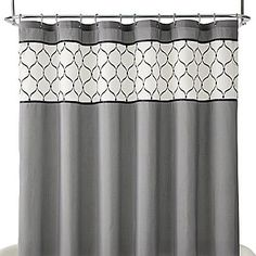 Royal Velvet® Kaler Shower Curtain - Would look perfect in a neutral space.  #EvaHomeJCP #jcpHome #sponsored