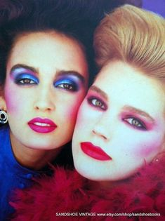 27 Worst Fashion Trends ~ vintage everyday Beauty in 2019 worst makeup trends 2019 - Makeup Trends 2019 1980s Makeup And Hair, 1980 Makeup, 80s Makeup Looks, 1980s Hair, Bad Makeup, Worst Makeup, Clown Makeup, Look 80s, Vintage Makeup