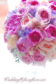イブミオラ、イブピアチェ、ピンクイブピアチェ、ユカカップのバラのラウンドブーケ delivered to アニヴェルセルみなとみらい FLORAFLORA*precious flowers*ウェディングブーケ会場装花&フラワースクール* Rose YvesPiadget YvesMiora PinkYvesPiadget YukaCup… fregrant rose bridal bouquet