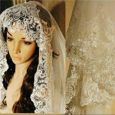 Hot Selling 3 Meters Luxury Lace Paillette Laciness Veil Bridal Long Wedding Veils with Crystal Veu De Noiva 3 Metros