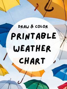 Your budding meteorologist will love this printable weather chart that allows him/her to draw the weather for the day; it provides a great visual for young kids, especially! Preschool Weather Chart, Weather Activities, Preschool Activities, Weather Calendar, Children Sketch, Charts For Kids, Cloudy Day, Writing Skills, Months In A Year
