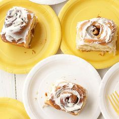 Bake these gooey brown sugar rolls the night before a big brunch or game. Raisins give them a chewy surprise:  http://www.bhg.com/recipes/bread/best-ever-cinnamon-roll-recipes/?socsrc=bhgpin112114cinnamonrolls&page=4