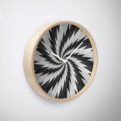 'Sharp Swirl Art' Clock by Rizwana Khan Purple Marble, Quartz Clock Mechanism, Bamboo, Art Prints, Wall Art, Wood, Frame, Artwork, Art Impressions
