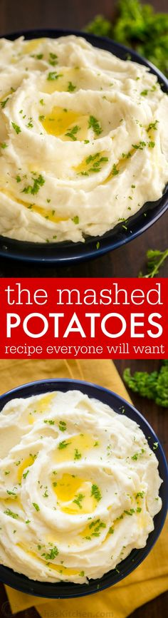 ... mashed potatoes recipe. Whipped, velvety and holiday worthy mashed