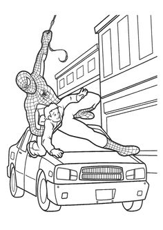 Spiderman coloring pages games