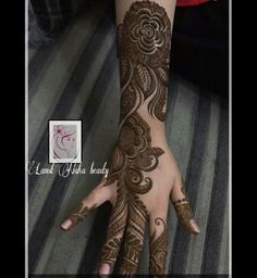 نقش حنا Pakistani Henna Designs, Arabic Henna Designs, Mehndi Designs 2018, Mehndi Designs For Hands, Mehandi Designs, Henna Mehndi, Henna Art, Mehendi, Menhdi Design