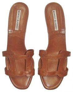 Manolo Blahnik, Slides, Sandals Brown Sandals $146