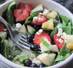 "Red, White and Blue Salad: ""Absolutely delicious and perfect for summer!""  -ellie_"