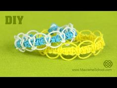 DIY Easy Square Knot Loops & Circles Bracelet - YouTube