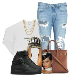 """""""Untitled #429"""" by princess-miyah ❤ liked on Polyvore featuring rag & bone/JEAN, Yves Saint Laurent, NIKE and ASOS"""
