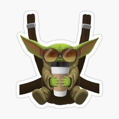 I designed this digital baby yoda graphic to fit perfectly on all kinds of products. If you're a fan of the little green baby, check out my store!
