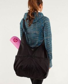 0ac95ba76dcaf9 LULULEMON Savasana Yoga TOTE Gym Bag Lululemon Bags, Athletic Outfits, Yoga  Fitness, Hooded