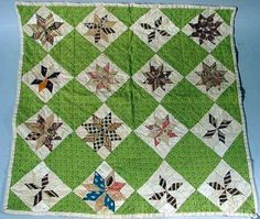 """Antique Handsewn Doll Bed Quilt. 15 1/2"""" square,"""