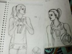 #volleyball sketching freetime with #nataliamalykh 17