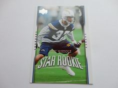 Eric Weddle 2007 Upper Deck Football Card.